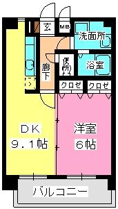 ハイドパーク別府 / 501号室間取り