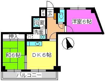 ドエル24 / 306号室間取り