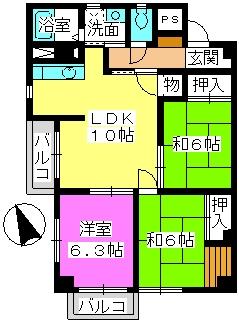ドエル24 / 310号室間取り