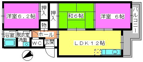 清永ビル / 403号室間取り
