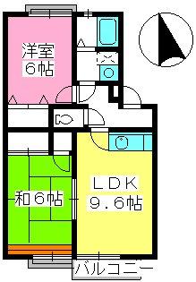 ティアラ新飼 / B-202号室間取り