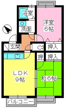 ティアラ原 / 202号室間取り