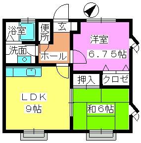 ティアラMⅡ / 201号室間取り
