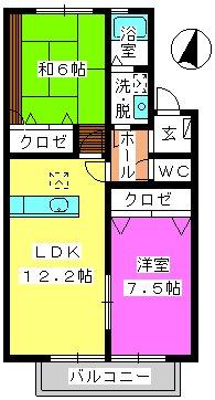 ティアラMⅠ / 102号室間取り