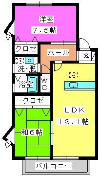 ティアラMⅠ / 205号室間取り
