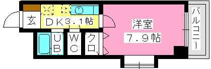 リブエール花畑 / 205号室間取り