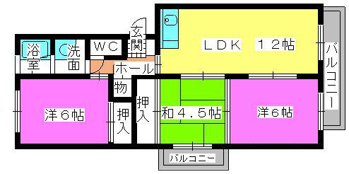 レジデンス副翠 / 207号室間取り