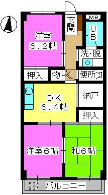 Y・Oビル / 402号室間取り