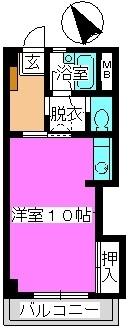 松田ハイツ / 203号室間取り