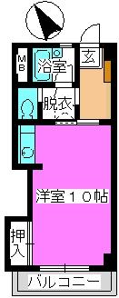 松田ハイツ / 302号室間取り
