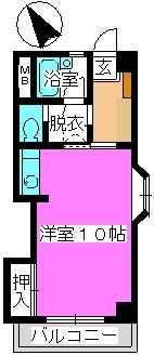 松田ハイツ / 405号室間取り