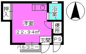 ラフォーレ四季 / R-1号室間取り