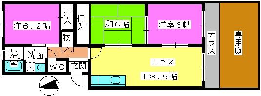 松隈ビル / 106号室間取り