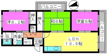 松隈ビル / 201号室間取り