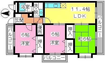 アネックス副翠 / 305号室間取り