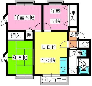 メゾン・ド・M / A-201号室間取り