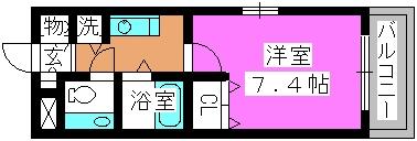 ワグキューブ / 201号室間取り