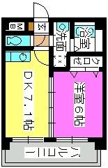 エクセル七隈 / 401号室間取り