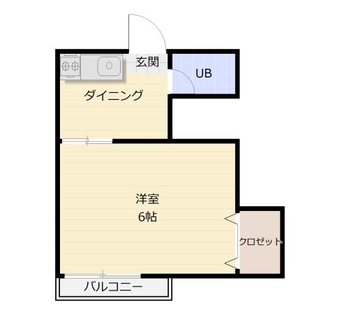 サンライズ梅光園 / 203号室間取り