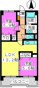 Taka Sunrise / 602号室間取り