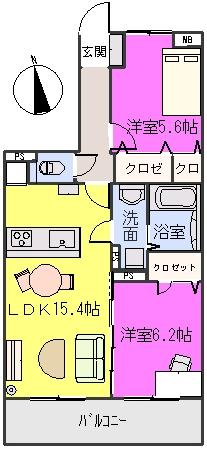 エミネンス樅の木坂 / 202号室間取り