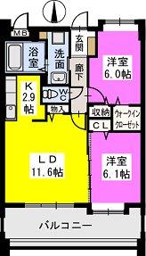エターナルK / 203号室間取り