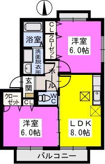 Scene千鶴 / 202号室間取り