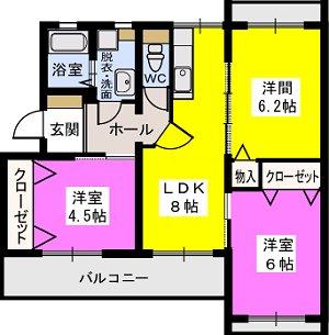 宗ハイツ / 102号室間取り