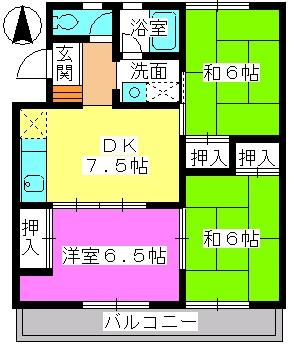 中村ビル / 108号室間取り