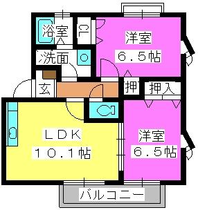 エクセル賀茂 / 201号室間取り