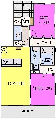 ステラ賀茂 / 101号室間取り
