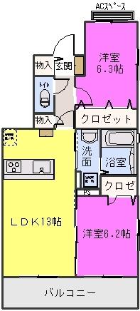 ステラ賀茂 / 301号室間取り