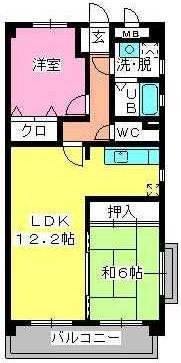 サンパーク野芥 / 201号室間取り