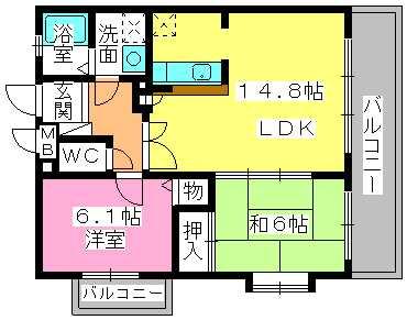 プレミール・プレジオ / 201号室間取り