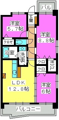シュペリュールⅡ / 501号室間取り
