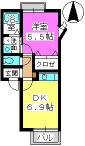 シャルマン4 / 202号室間取り