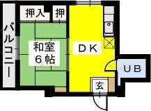 コーポラス城戸 / 301号室間取り