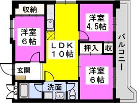 讃井ビル / 201号室間取り