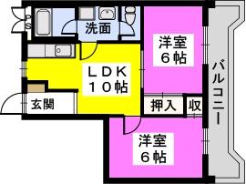 讃井ビル / 202号室間取り
