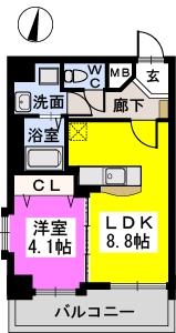 メゾンド オハナ / 403号室間取り