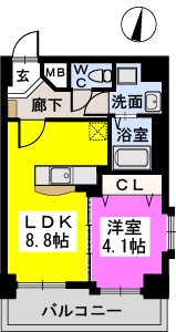メゾンド オハナ / 501号室間取り