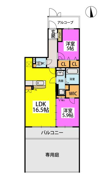 (仮)プレアコートY・M / N-103号室間取り