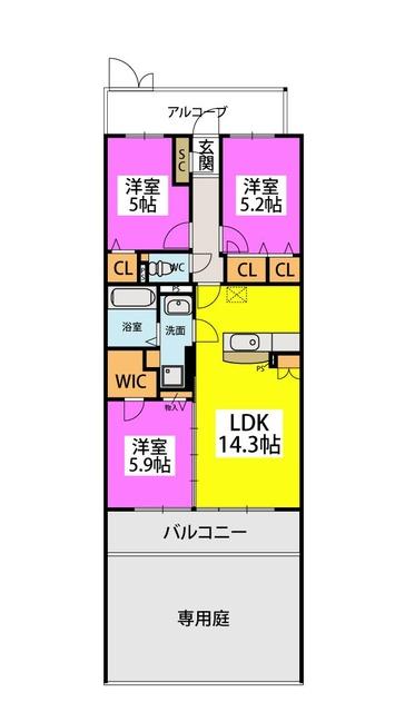 ピノコーダ・カーサ / N-102号室間取り