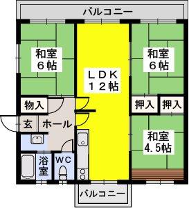 笹の台団地 / 102号室間取り