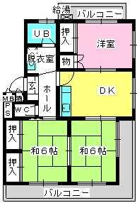 エクセレント野田 / 302号室間取り
