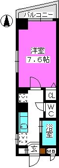 パークハイム大濠 / 701号室間取り