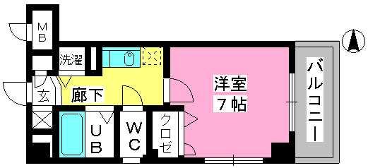 ヨーキハイム大濠 / 201号室間取り