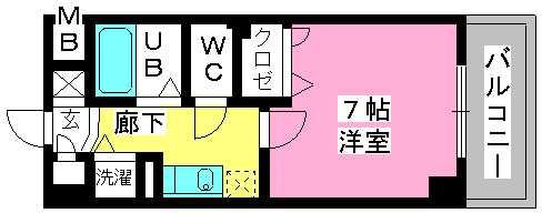 ヨーキハイム大濠 / 203号室間取り