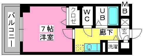 ヨーキハイム大濠 / 207号室間取り