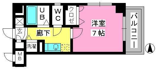 ヨーキハイム大濠 / 505号室間取り
